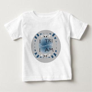 Camiseta Para Bebê Eu tri conseqüentemente mim sou Triathlon