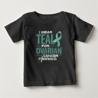 Camiseta Para Bebê Eu visto a cerceta & o branco para a consciência