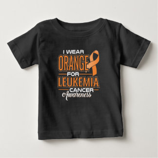 Camiseta Para Bebê Eu visto a laranja para a consciência do cancer da