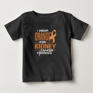 Camiseta Para Bebê Eu visto a laranja para o cancer de rim