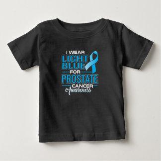 Camiseta Para Bebê Eu visto a luz - azul para a consciência do cancro