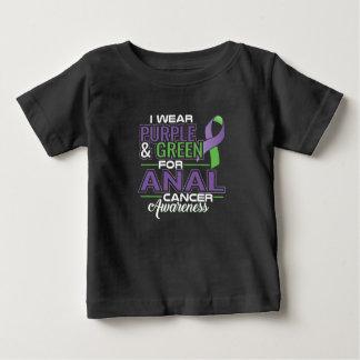 Camiseta Para Bebê Eu visto o rosa para a consciência do cancro da