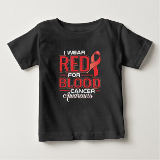 Camiseta Para Bebê Eu visto o vermelho para a consciência do cancer