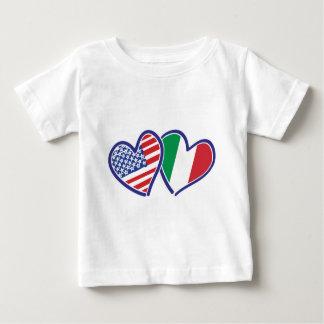 Camiseta Para Bebê EUA---Italia-Amor