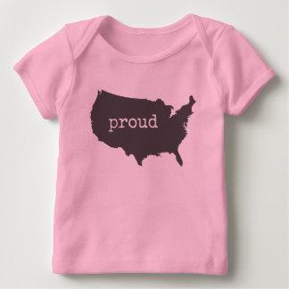 Camiseta Para Bebê EUA nativos