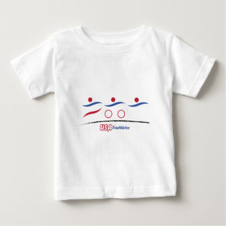 Camiseta Para Bebê EUA Triathletes