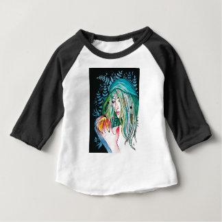 Camiseta Para Bebê Evergreen - retrato da aguarela