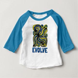 """Camiseta Para Bebê """"Evolua"""" o t-shirt do Raglan do bebê 3/4"""