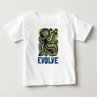 """Camiseta Para Bebê """"Evolua"""" o t-shirt fino do jérsei do bebê"""