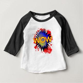 Camiseta Para Bebê Exclamação cómica do wow