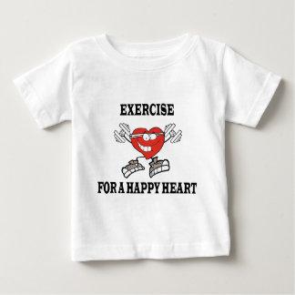 Camiseta Para Bebê exercício heart2