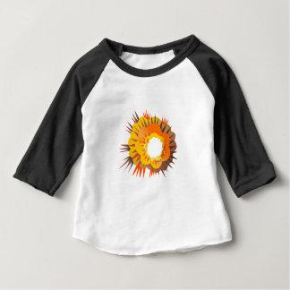 Camiseta Para Bebê Explosão da bomba retro