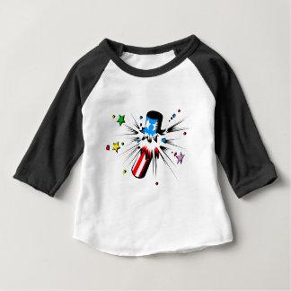 Camiseta Para Bebê Explosão do fogo-de-artifício