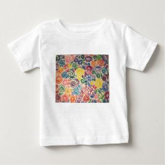 Camiseta Para Bebê Explosão do jardim