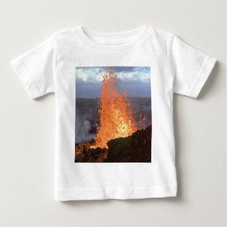 Camiseta Para Bebê explosão do vulcão da lava