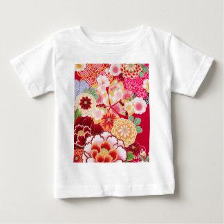 Camiseta Para Bebê Explosão floral vermelha de Falln