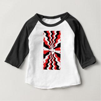 Camiseta Para Bebê Explosão vermelha, preta, & branca do ziguezague