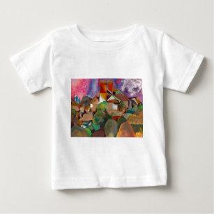 Camiseta Para Bebê Expressionista - pintura das belas artes dos