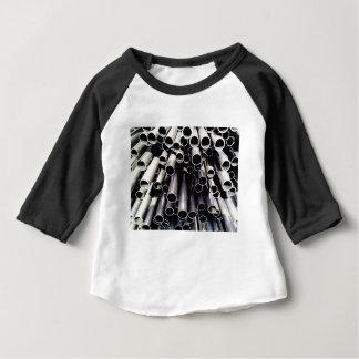 Camiseta Para Bebê extremidades do tubo do metal