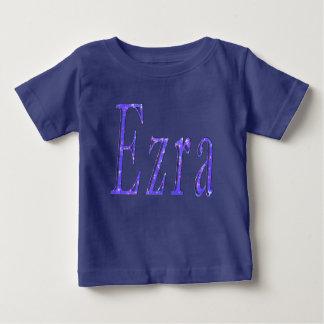 Camiseta Para Bebê Ezra, _Name, _Logo, t-shirt _Baby do azul dos