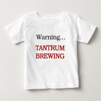 Camiseta Para Bebê Fabricação de cerveja da birra