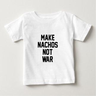Camiseta Para Bebê Faça a guerra dos Nachos não