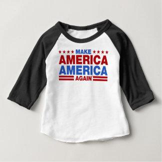 Camiseta Para Bebê Faça América América outra vez