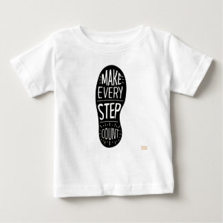 Camiseta Para Bebê Faça cada contagem da etapa
