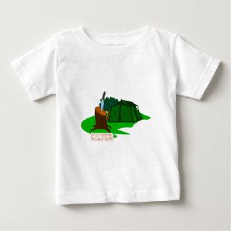 Camiseta Para Bebê Faca e barraca de acampamento