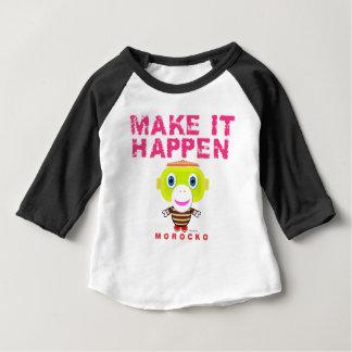 Camiseta Para Bebê Faça-lhe o Macaco-Morocko Acontecer-Bonito