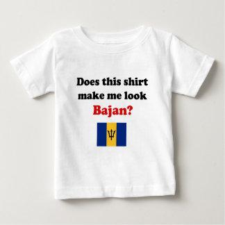 Camiseta Para Bebê Faça-me a criança de Bajan do olhar/roupa da