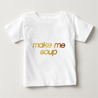Camiseta Para Bebê Faça-me a sopa! Eu estou com fome! Foodie na moda
