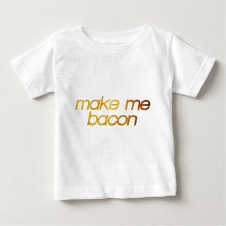 Camiseta Para Bebê Faça-me o bacon! Eu estou com fome! Foodie na moda