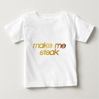 Camiseta Para Bebê Faça-me o bife! Eu estou com fome! Foodie na moda