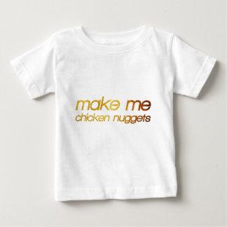 Camiseta Para Bebê Faça-me pepitas de galinha! Eu estou com fome!