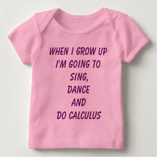 Camiseta Para Bebê Faça o cálculo - T do bebê do poder da menina