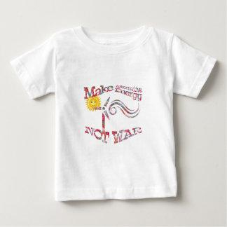 Camiseta Para Bebê Faça o design floral da guerra da energia