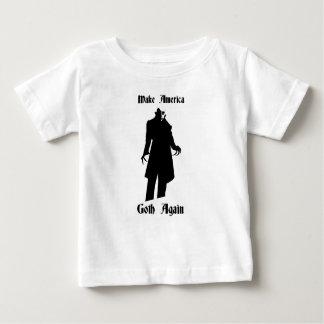Camiseta Para Bebê faça o gótico de América outra vez