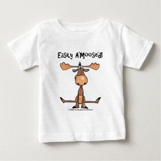 """Camiseta Para Bebê Facilmente A'Moose """" d"""