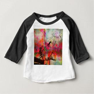 Camiseta Para Bebê Fadas que espalham sementes da margarida