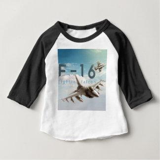 Camiseta Para Bebê Falcão F-16 de combate