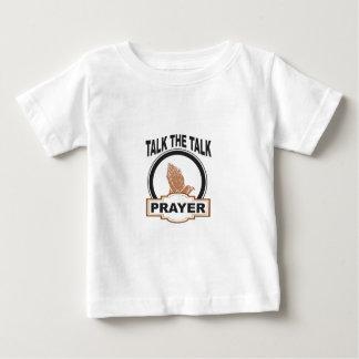 Camiseta Para Bebê Fale a oração da conversa