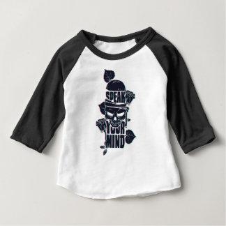 Camiseta Para Bebê fale seu crânio da mente