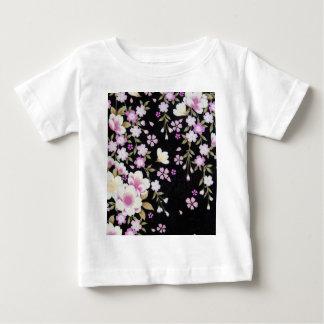 Camiseta Para Bebê Falln que conecta flores cor-de-rosa