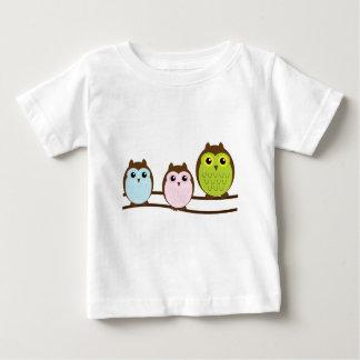 Camiseta Para Bebê Família bonito da coruja