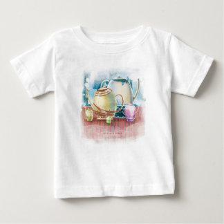 Camiseta Para Bebê Família do bule para a criança 1