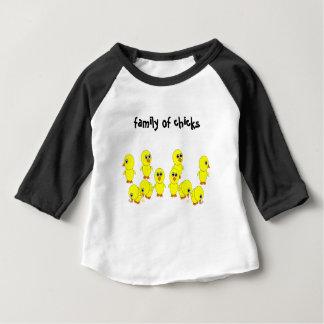 Camiseta Para Bebê família dos pintinhos