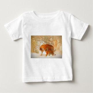 Camiseta Para Bebê Família em um blizzard - PaintingZ do tigre