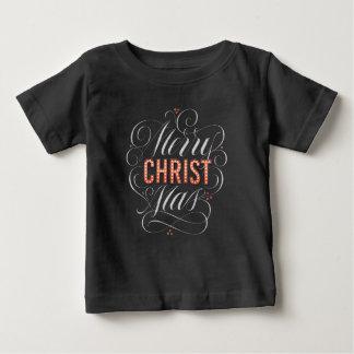 Camiseta Para Bebê Famoso do quadro do Feliz Natal religioso