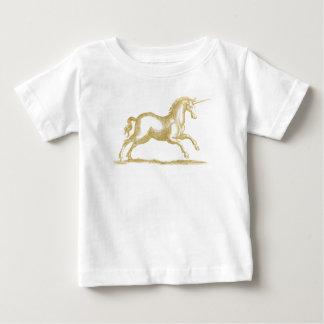 Camiseta Para Bebê Fantasia do unicórnio do brilho do ouro